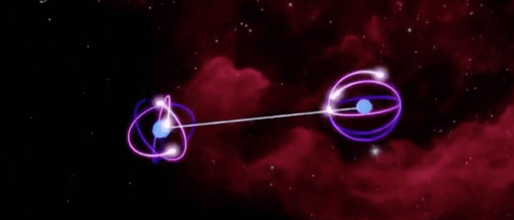 Quantum teleportation entangled particle