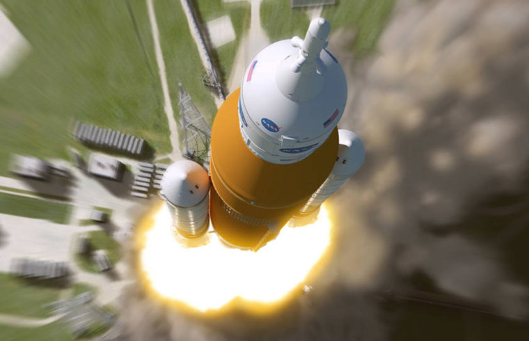 Artistic impression Space Launch System